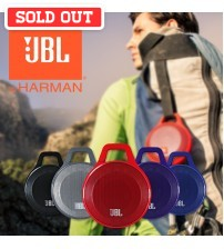 JBL Clip Rechargeable Portable Bluetooth Wireless Speaker with built-in Microphone and Carabiner Clip