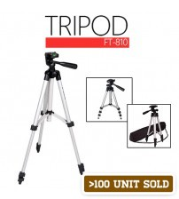 4 Section Aluminium Legs Camera / Mobile Gadgets Tripod With Maximum Length 1060mm