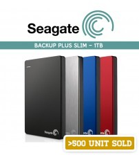 Seagate Backup Plus Slim Portable External Hard Disk USB3.0 ( 1 TB )