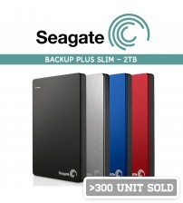 Seagate Backup Plus Slim Portable External Hard Disk USB3.0 ( 2 TB )