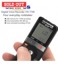 Olympus VN-7700 Digital Voice Recorder with 2GB Memory (AAA Battery)