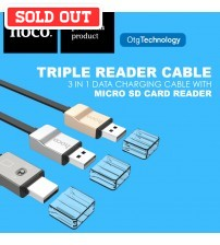 HOCO Triple Reader Micro USB Charging Cable With Micro SD Card Reader UPM06