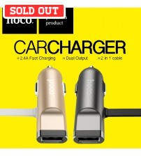 Hoco 2.4A Multifunction Fast Charge Car Charger UCL01