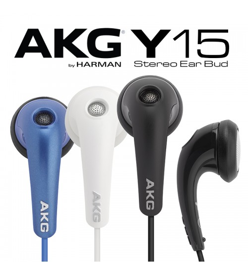 AKG Y15 Lightweight In Ear Stereo Headphones With Volume Control By JBL Harman