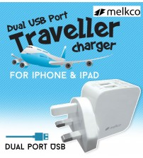 Melkco Dual USB Port Traveller Charger Power Kit