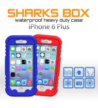 Sharks Box Colorful Waterproof Case for iPhone 6 Plus
