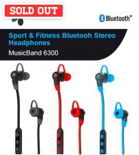 iTech Music Band 6300 Sport & Fitness Bluetooth Stereo Headphone with Music, Calls & Selfie Control