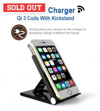 Portable Wireless Charger Pad Q101 With Kickstand For Android Phone