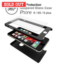 360˚ Full Protection Tempered Glass Case for Iphone 6 / 6S / 6 Plus