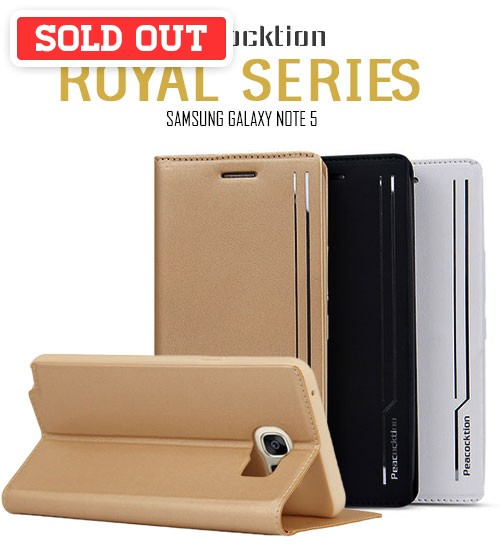 Peacocktion Royal Series Flip Magnet Cover Protection Case For Samsung Galaxy Note 5
