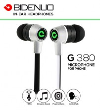 BIDENUO G380 Dynamic Sound In-Ear Headphones With Mic & Control Talk For Samsung, Apple, HTC Phones