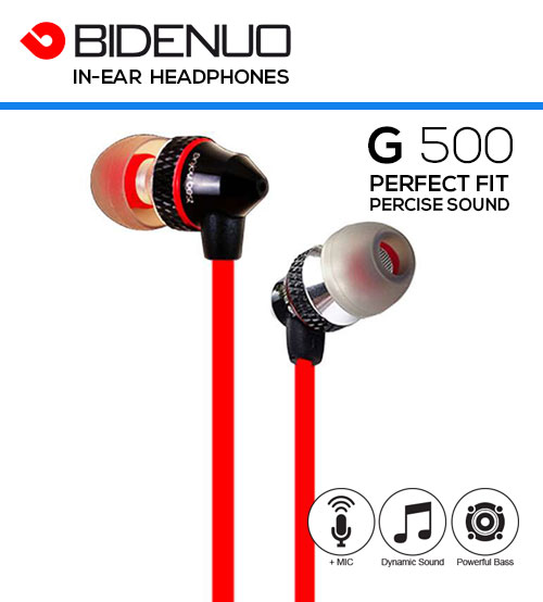 BIDENUO G500 High Definition Sound Universal In-Ear Headphones With Microphone