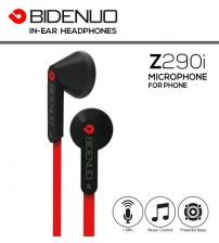 BIDENUO Z290i Universal In-Ear Headphones With Mic, Music Control, Noise Cancelling