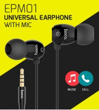 HOCO EPM01 Universal Earphone With Mic / Play Music & Take Calls For Android & iOS