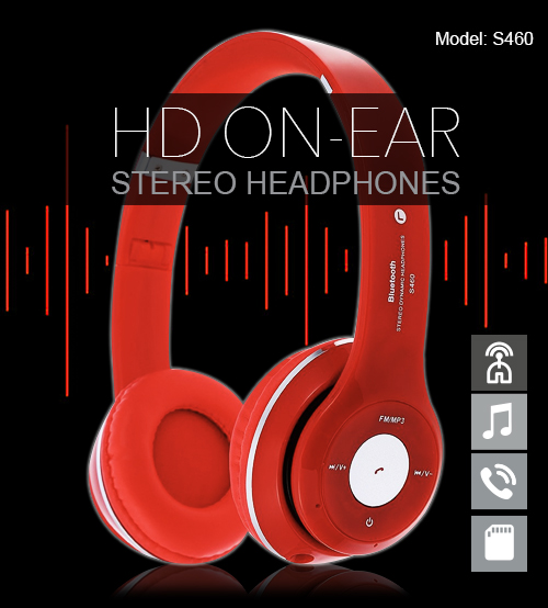 S460 High Definition On-Ear Stereo / MP3 / Bluetooth Headphones