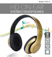 STN-16 Wireless High Definition On-Ear Stereo / MP3 / Bluetooth Headphones / TF Card