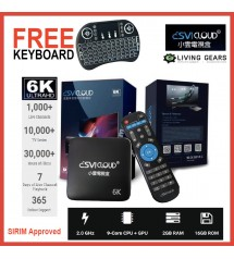 SVI Cloud 小雲 3 PRO 4G+32G / 2G+16G (FREE Air Mouse Keyboard) Android Box Dual Band 5G Wifi 8K Bluetooth Smart TVBox Preinstall 10000 IPTV Live Channel Androidbox TV.Box