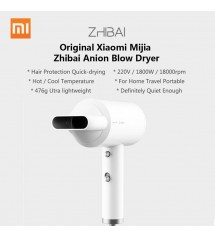 Xiaomi Mijia Zhibai Hair Dryer 1800W Mini Portable Anion HL301