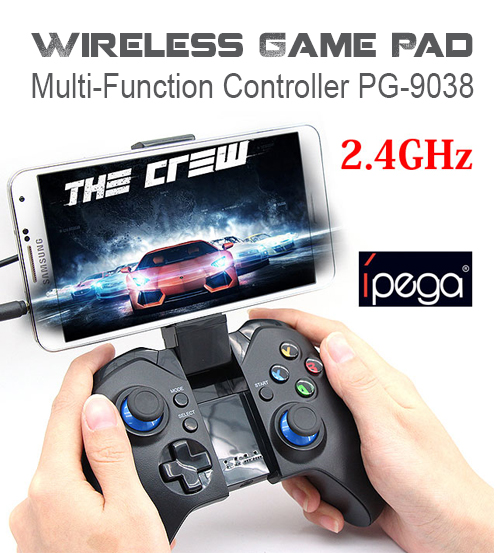 iPega PG-9038 Wireless Bluetooth Gaming Controller Joystick for Smartphone with telescopic stand