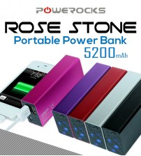 Powerocks Rose Stone Portable Power Bank 5200mAh
