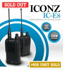 ICONZ IC-E8 Professional FM Transceiver Walkie-Talkie (1 Set ) (10KM Talk Distance )