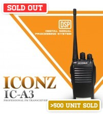 ICONZ IC-A3 Professional FM Transceiver Walkie-Talkie ( 1 Set ) ( 5KM Talk Distance )