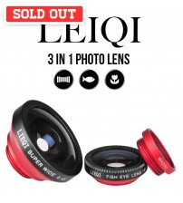LEIQI Pemium High Quality 3-in-1 Photo Lens For Mobile Phone/Tablets