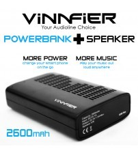 Vinnfier Icon Plus Speaker With Built-In Power Bank 2600mAh