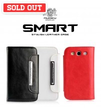 Nuoku Smart Stylish Leather Case For Samsung Galaxy S3 & iPhone 4/4S