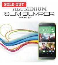 HTC M7/M8 0.7mm Ultra Slim Light Weight Aluminium Metal Bumper