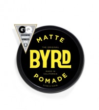 BYRD Matte Pomade Water Soluble Medium Hold Low Sheen - Made in California 3OZ (88.7ml)