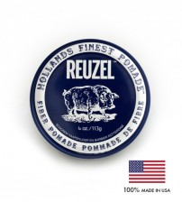 REUZEL Water Soluble Fiber Hair Pomade - Pliable Hold, Natural Finish (113g)