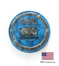 Reuzel Blue Strong Hold Water Soluble High Sheen Hollands Finest Hair Pomade (113g)