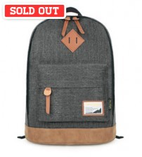 Denim Solid Backpack Grey