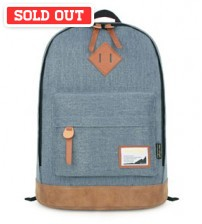 Denim Solid Backpack Blue