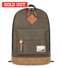 Denim Solid Backpack Brown