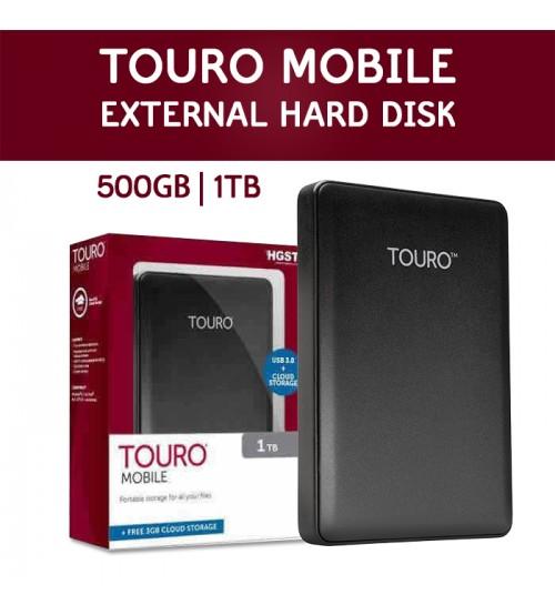 TOURO HGST Hitachi Mobile Portable External Hard Drive 500GB / 1TB / 2TB