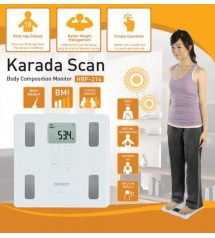 Karada Scan HBF-214 Body Composition Digital Body Weighing Scale for BMI Body Fat Weight by Omron