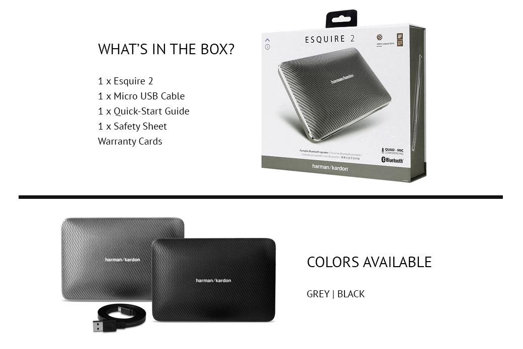 harman kardon esquire 2 premium portable bluetooth speaker. Black Bedroom Furniture Sets. Home Design Ideas