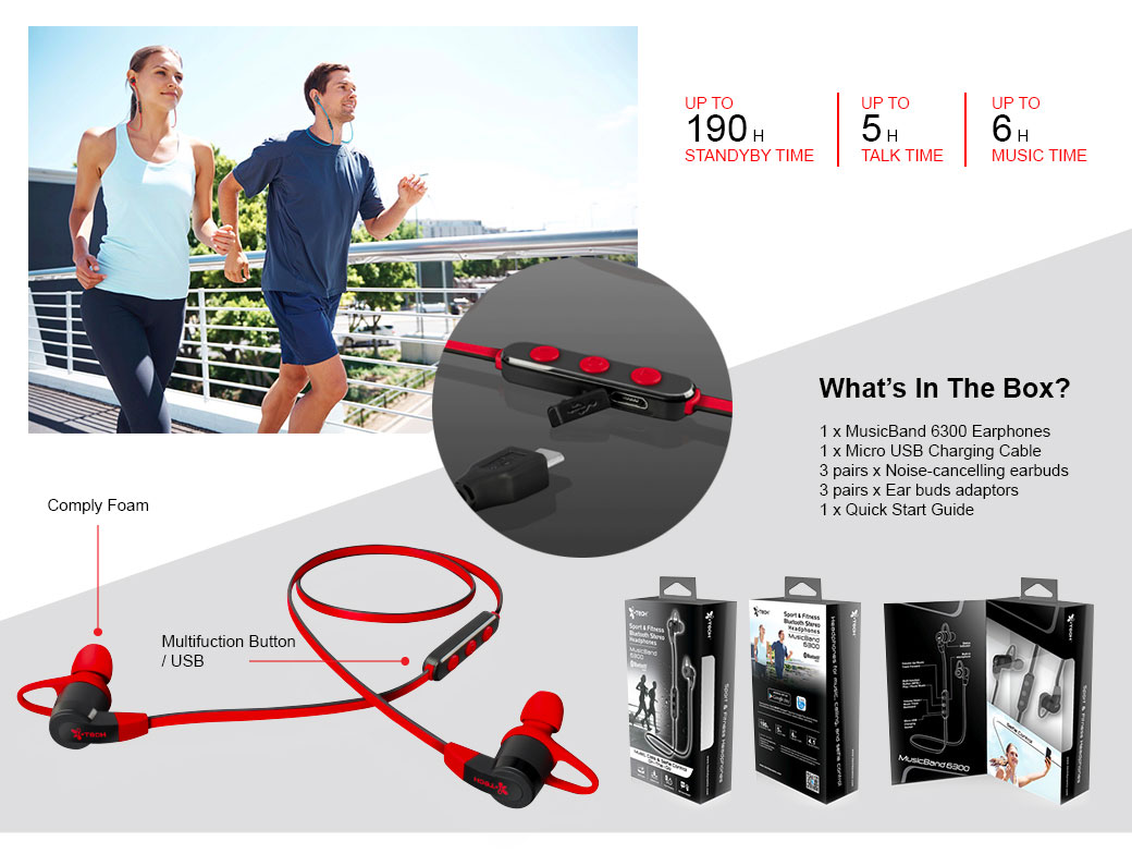 Itech Music Band 6300 Sport Fitness Bluetooth Stereo Headphone Lotong L1 Headset Description Reviews 0