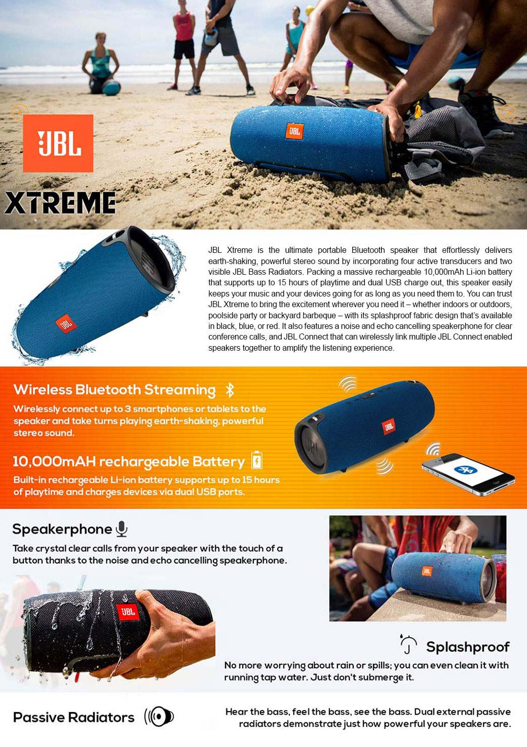 Jbl Xtreme Splashproof Portable Speaker With Ultra Powerful Black 126k Subscribers Subscribe Introducing The